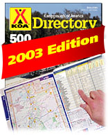 A picture of the front cover of the KOA directory.