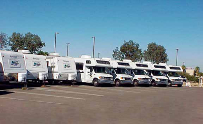 Used RVs in Tucson on Pedata RVs lot