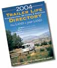 A picture of the front cover of the Trailer Life Directory.