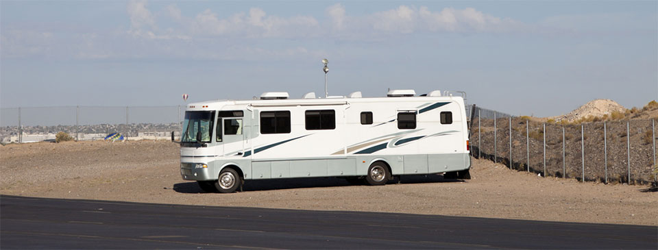 RV Sitting on Lot